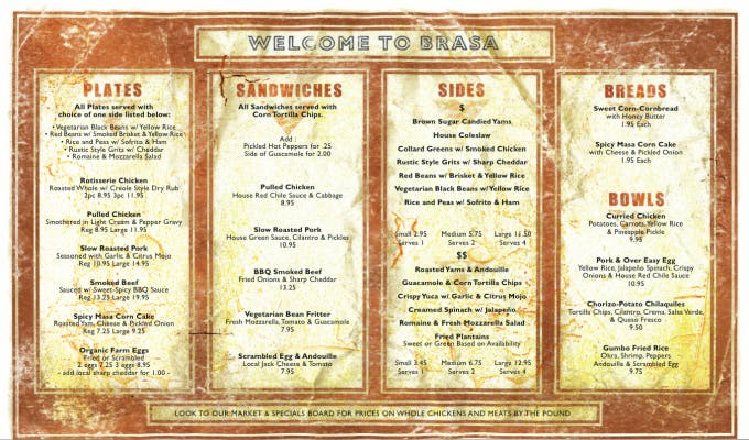 A CHANGE IN SEASON IS BRINGING SOME MENU CHANGES TO BRASA!