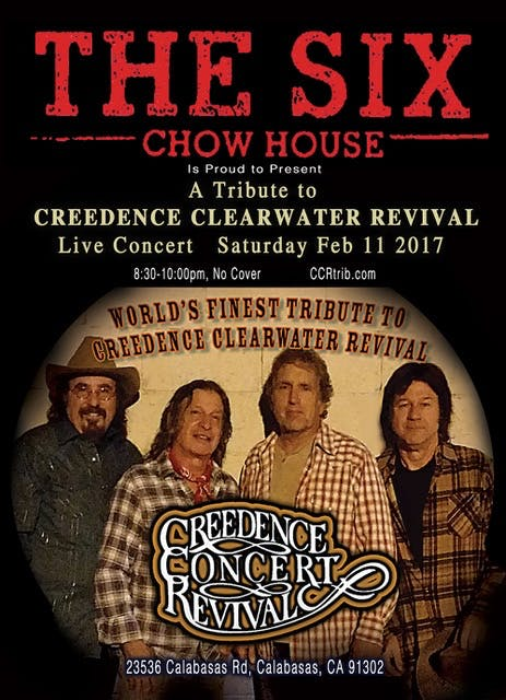 SATURDAY 2.11.17 CCR TRIBUTE