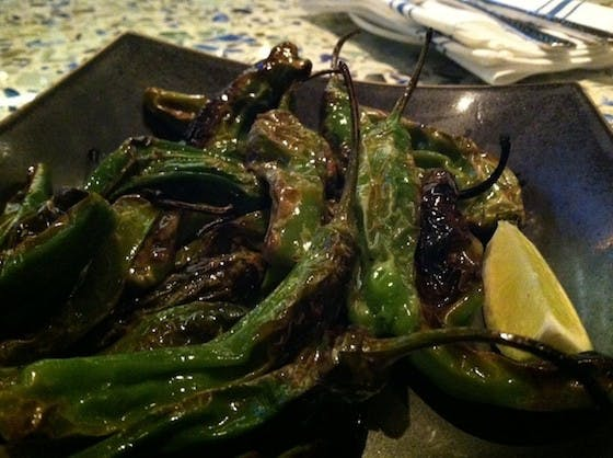 FEATURE 100 Favorite Dishes 2013-2014: No. 34, Chiles de Padron Asados at Caracol