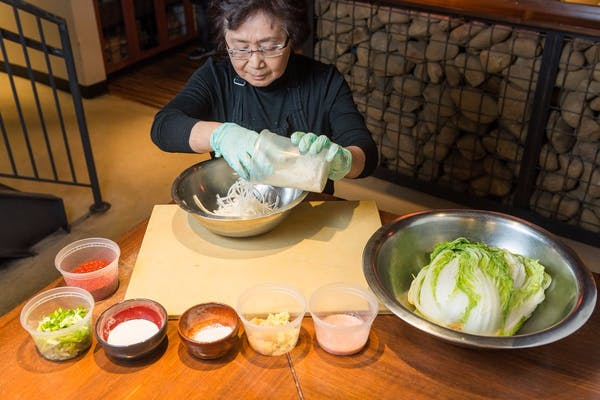 Kimchi in Action: Mandu Chef Yesoon Lee Makes a House Specialty