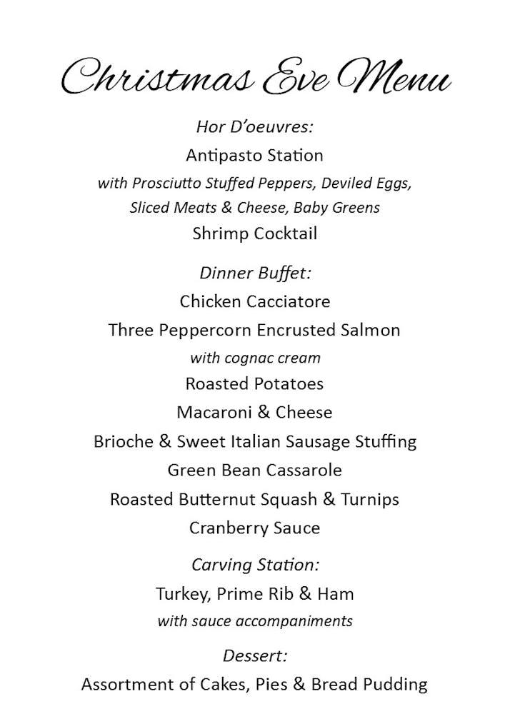 Christmas Eve Dinner Menu.Christmas Eve Dinner Buffet Eleven Forty Nine