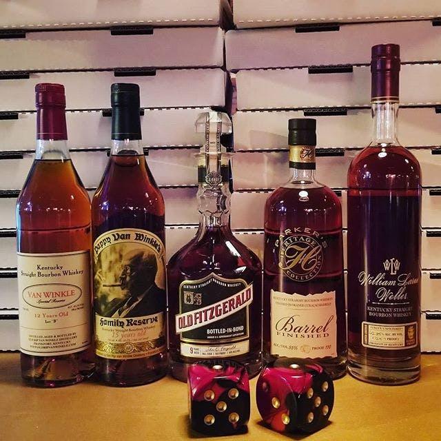 An array of liquors
