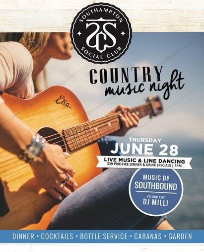June 28: Country Music Night