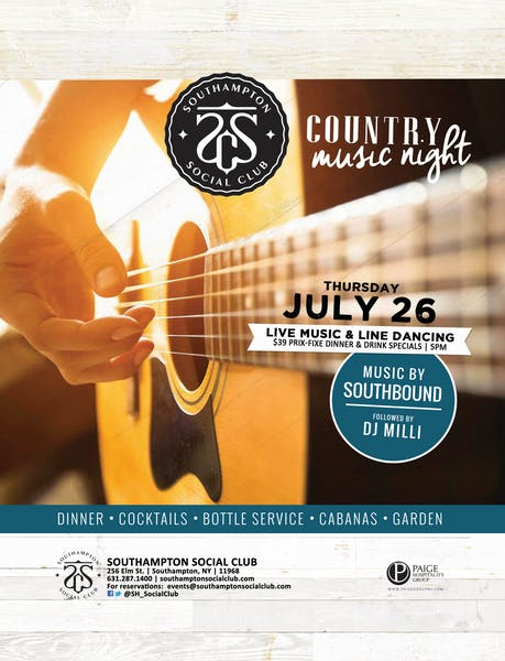 July 26th: Country Music Night