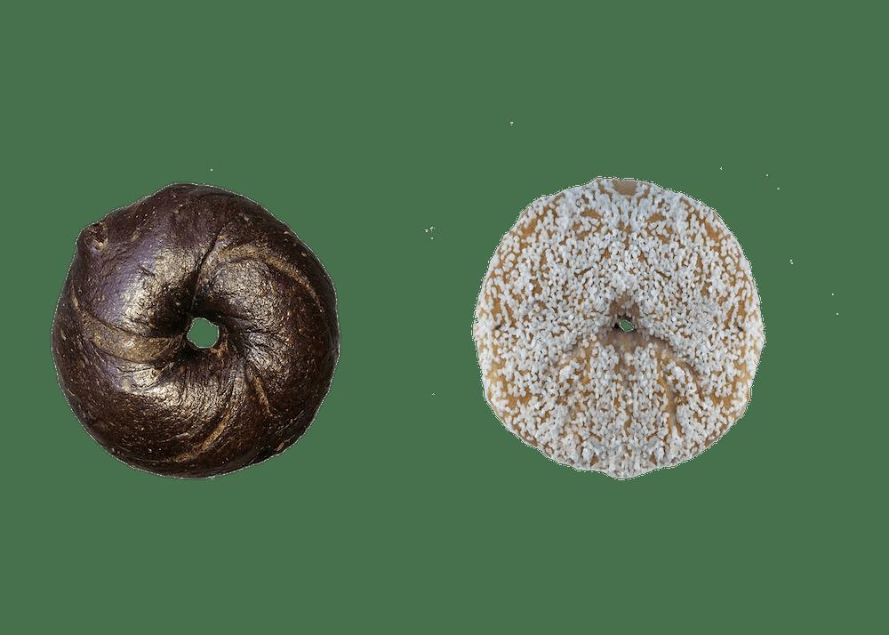 pumpernickle and salt bagel