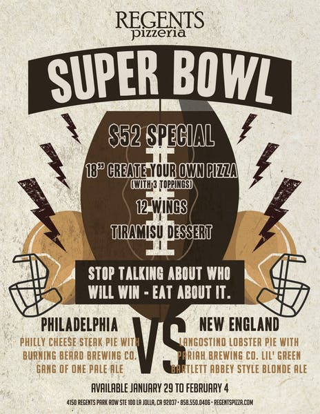 Super Bowl specials = party perfection