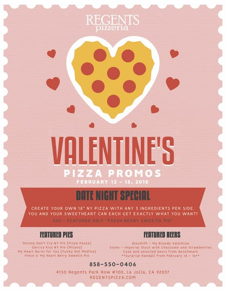 Valentine's Day Pizza with your Sweetheart