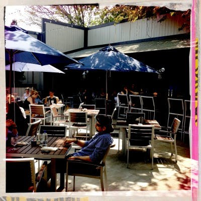 Now open: Chez Billy and Town Hall's back patio