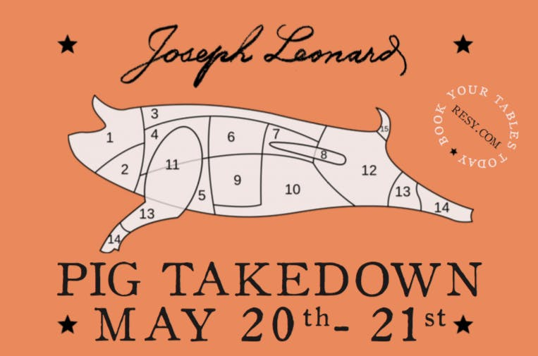 pig takedown flyer with logo and photo of pig