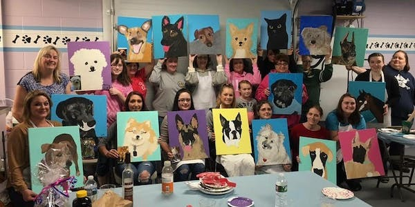 Paint Your Pet Party and Dinner