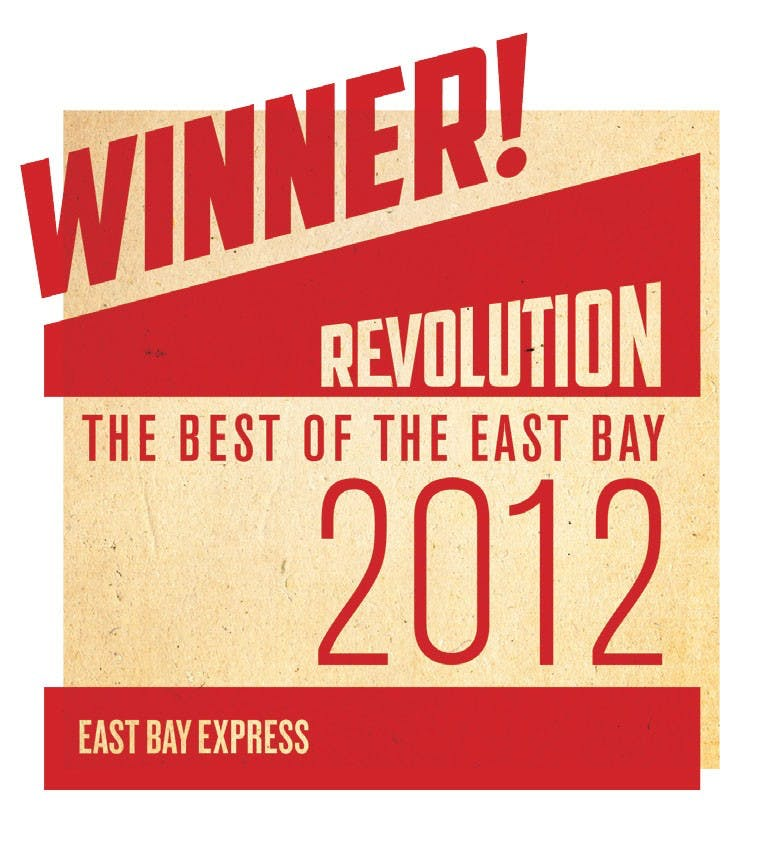 winner revolution the best of the east bay 2012 banner