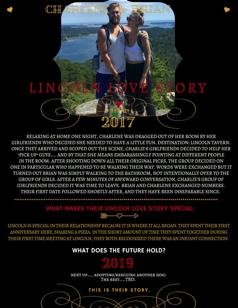 Lincoln Love Story Contest | Lincoln Tavern and Restaurant