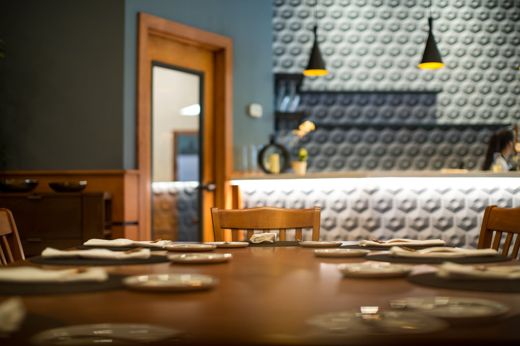 private dining table at spoon eatery