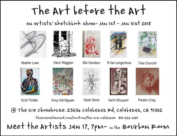 The Art Before The Art: Sketchbook Show