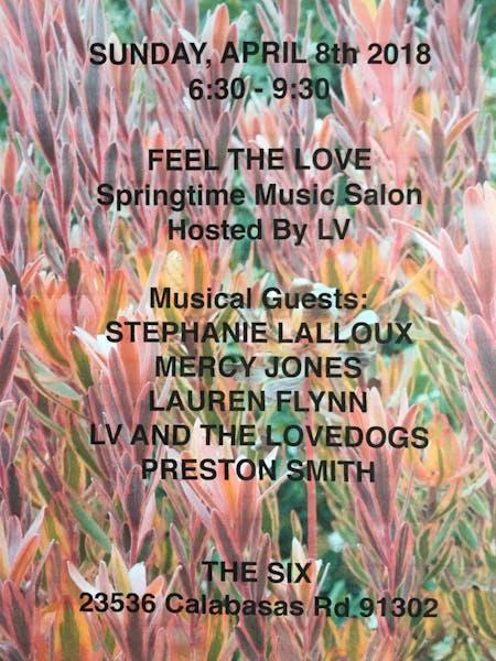 LV & Friends Rocking the Bourbon Room - Sunday, 4.8.18 6:30pm