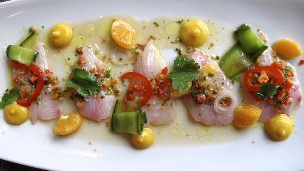Caracol's Tangerine Snapper Ceviche