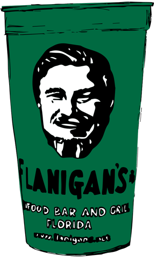 Flanigan's iconic green cup