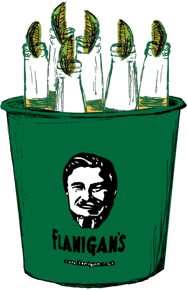 Flanigan's beer bucket
