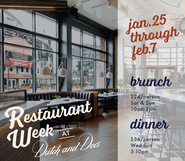 Chicago restaurant week menu at Boka Restaurant Group's Wrigleyville tavern