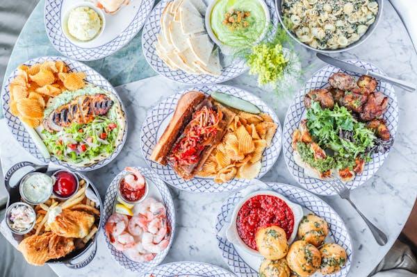 Chicago restaurant and bar near Wrigley Field menu spread