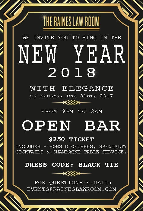The Raines Law Room 17th Street New Year\'s Eve Party - Raines Law Room