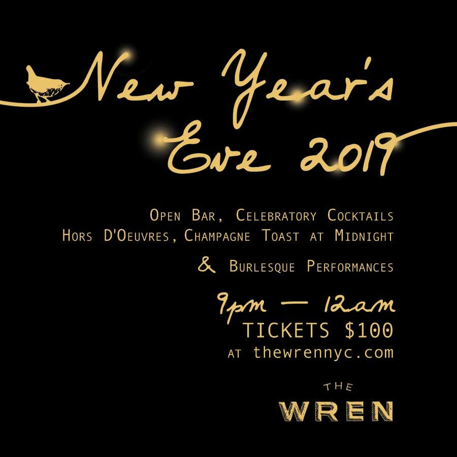 New Year's Eve at The Wren - click here