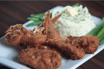 Southern Fried Whole Wing Plate