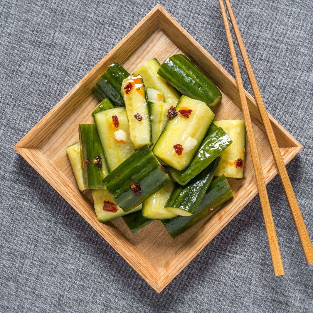 Spicy Pickled Cucumber Salad