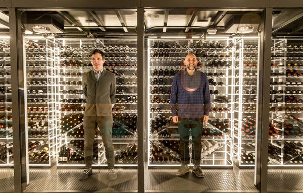 Enoteca Nosrana Wine Storage From Left to Right Nicholas Suhor Director of Operations and Austin Bridges Wine and Spirits Director