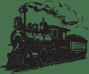 a train logo