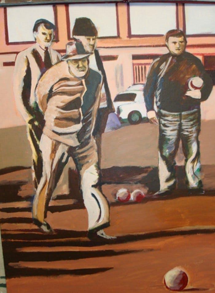 bocci ball mural