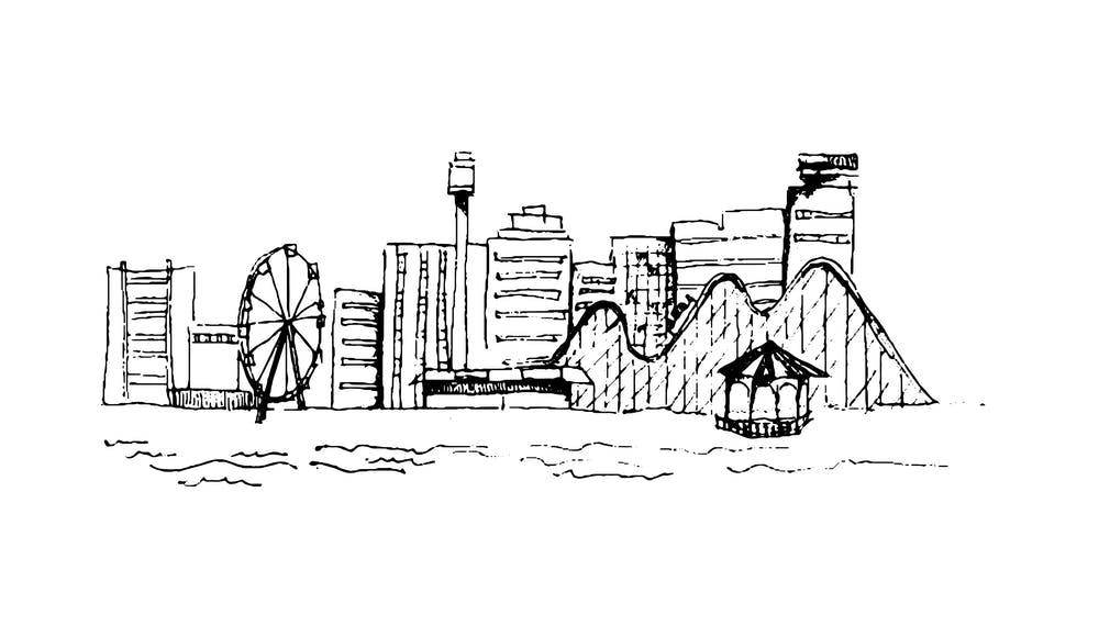 Atlantic city drawing