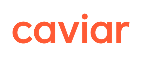 close up of caviar logo