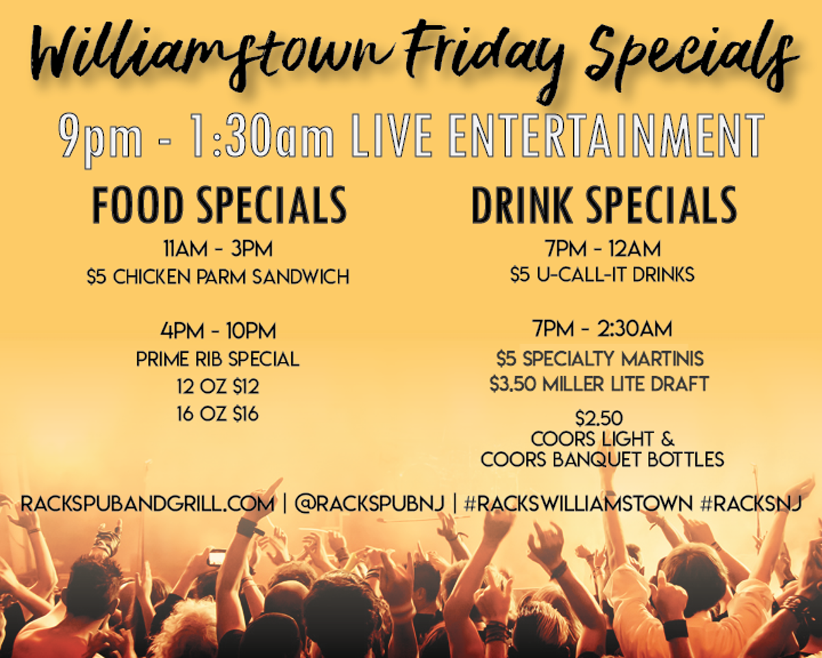 Friday Live Entertainmentdjband Racks Pub Grill