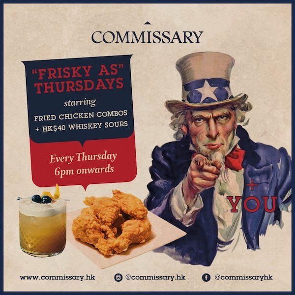 FRISKY AS THURSDAY - FRIED CHICKEN COMBOS + WHISKEY SOURS