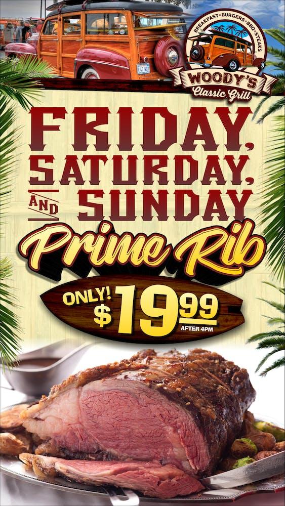 Weekend Prime Rib banner
