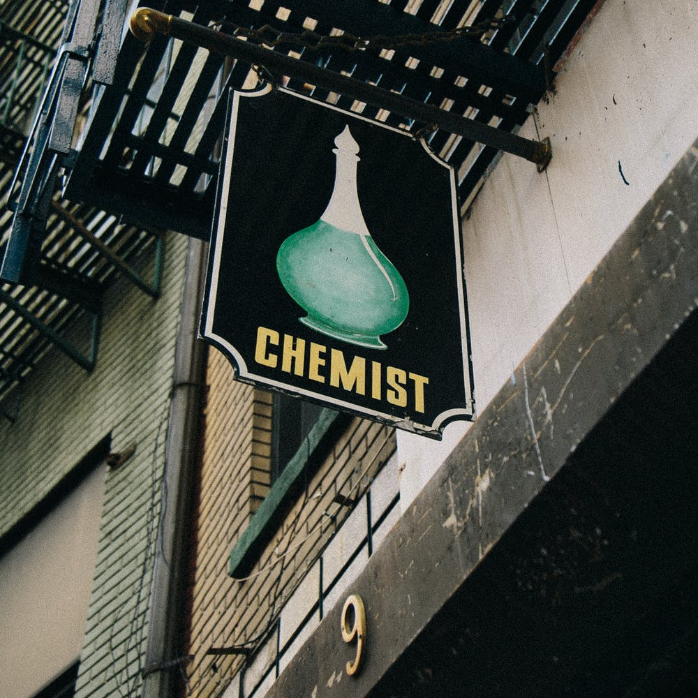 9 Doyers Chemist Sign