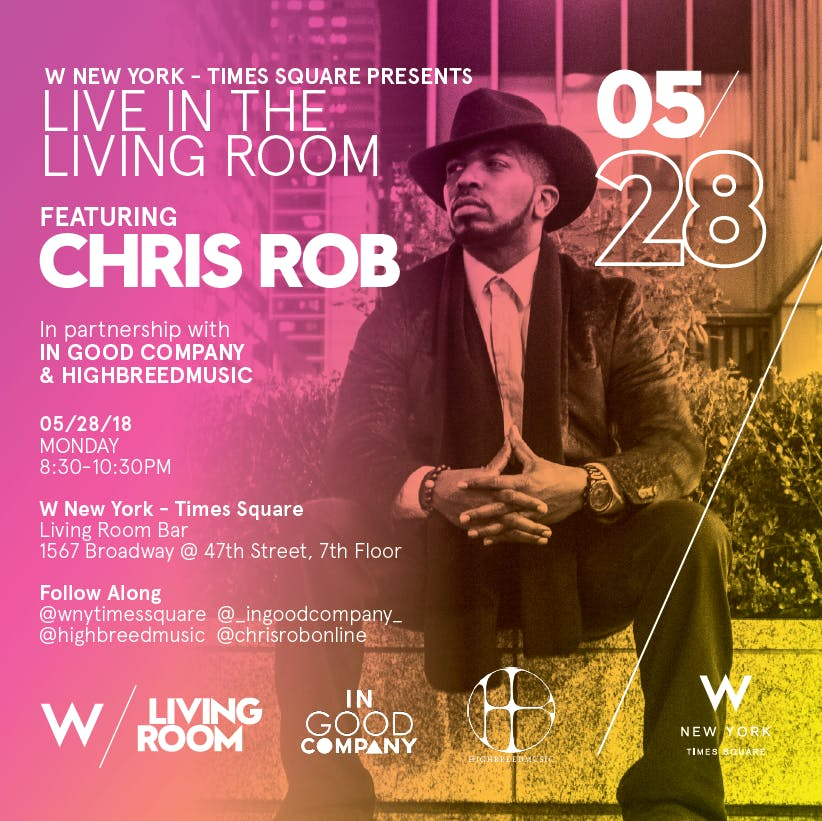 Chris Rob / Live in the Living Room / May 28, 2018 | W NY - Times ...