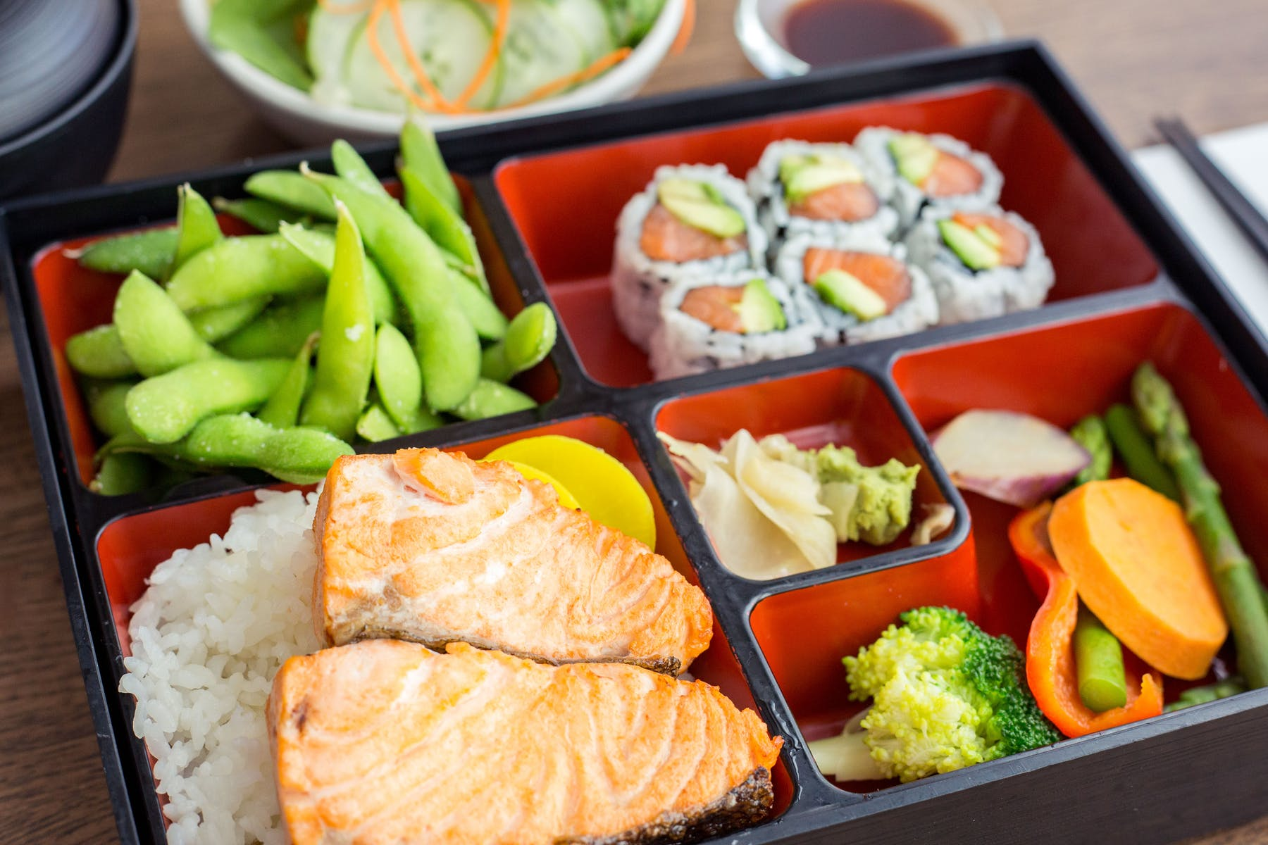 Salmon Bento Box Lunch