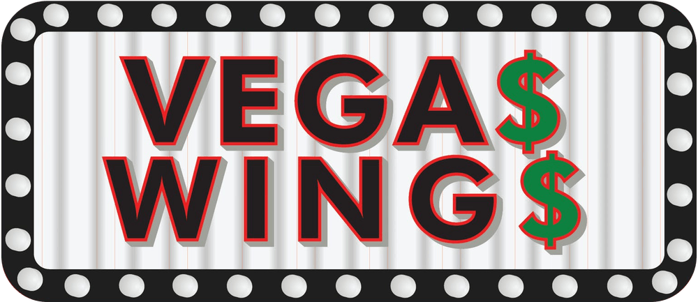 Text stating Vegas Wings