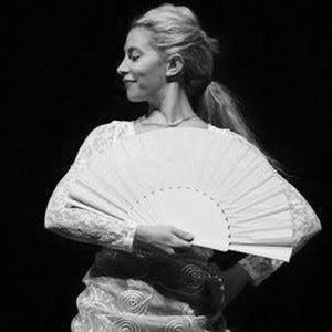 Genoveva, founder and artistic director of the Austin Flamenco Academy and Pink Flamenco Children's Dance Academy