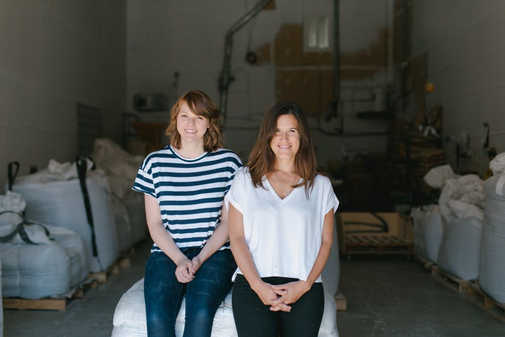Janna Bishop (left) and Shira McDermott (right) founders of GRAIN