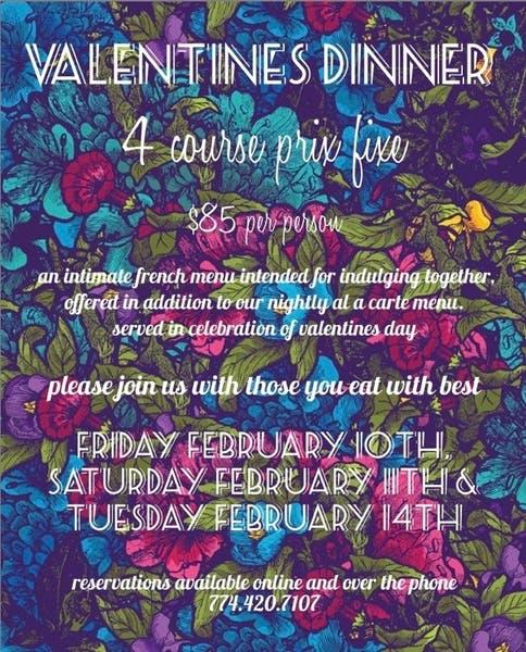 Valentines Dinner 2/10-2/14