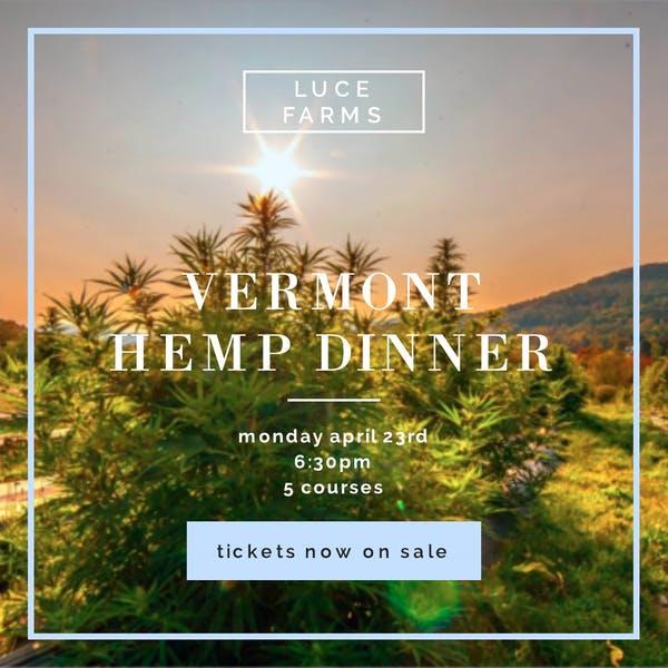 vermont hemp dinner 04/23