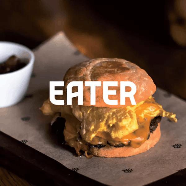 Sausage, egg & biscuit sandwich