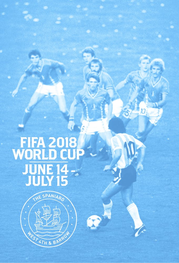 FIFA 2018 World Cup at The Spaniard