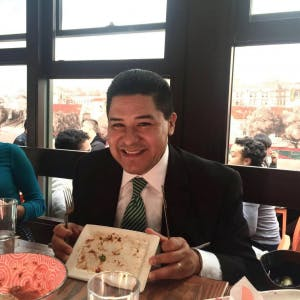 Superintendent Richard Carranza: Member of the clean plate club.