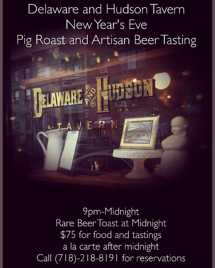 Delaware and Hudson Tavern New Year's Eve Pig Roast and Artisan Beer Tasting