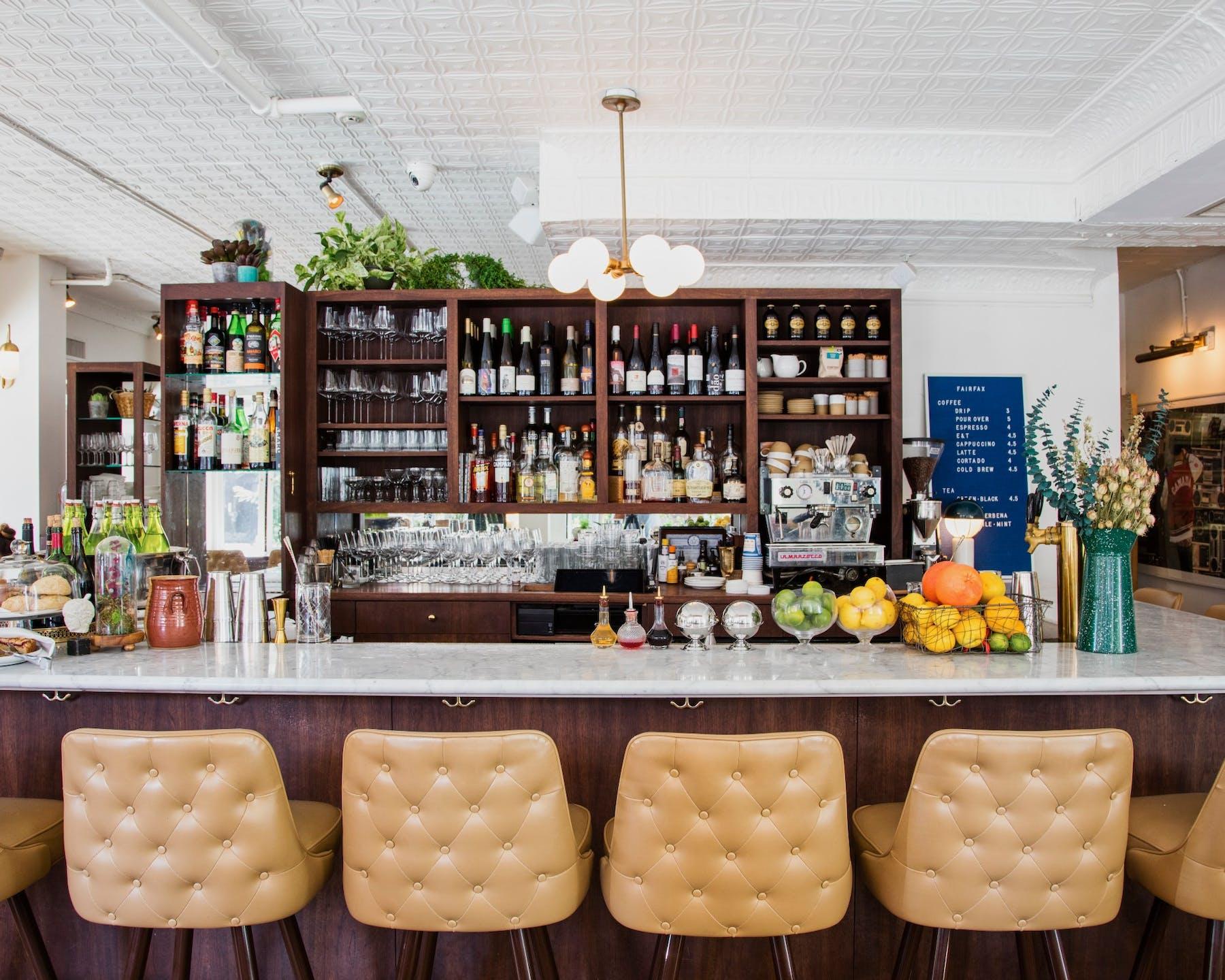 Fairfax bar stools and liquor stands