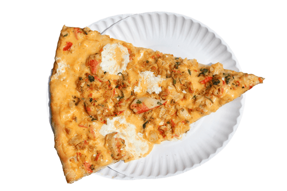 Crab Pizza Slice
